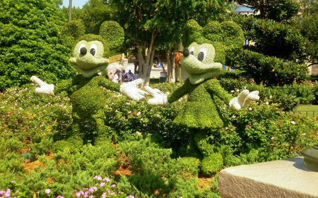Mickey & Minnie Topiary wallpapers and stock photos