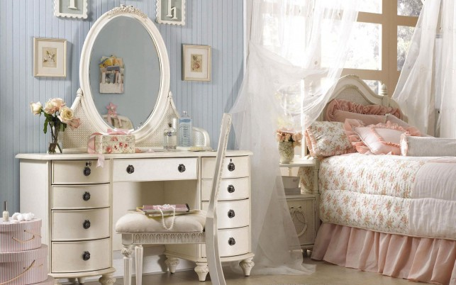 Bed Room & Dresser wallpapers and stock photos