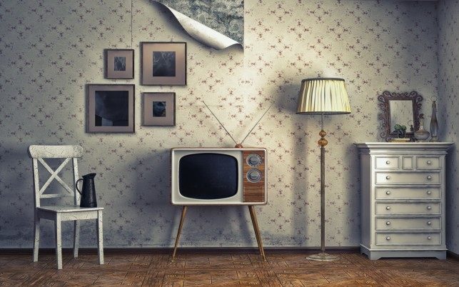Vintage Tv wallpapers and stock photos