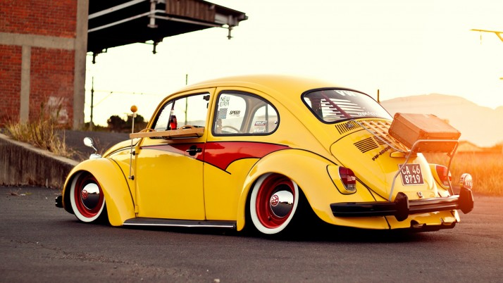 Escarabajo de Volkswagen Classic de dos wallpapers and stock photos