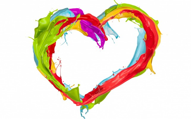 Paint Splatter Heart wallpapers and stock photos