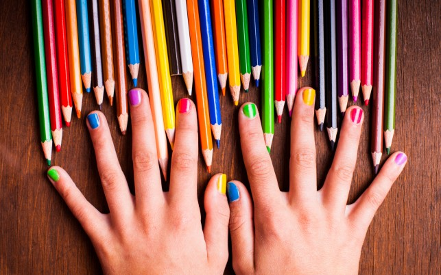 Colored Pencils Hands & Nails wallpapers and stock photos