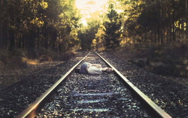 Sleeping On The Rail Road wallpapers and stock photos