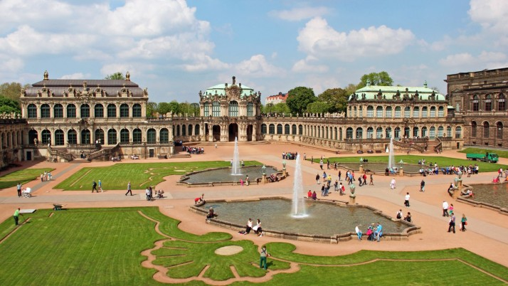 Zwinger Palace Dresden wallpapers and stock photos