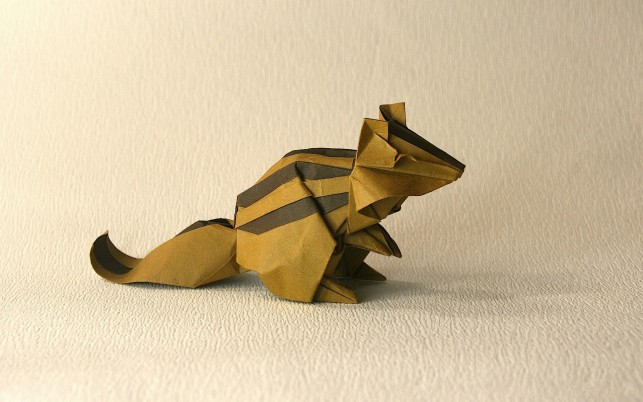 Origami Chipmunk wallpapers and stock photos