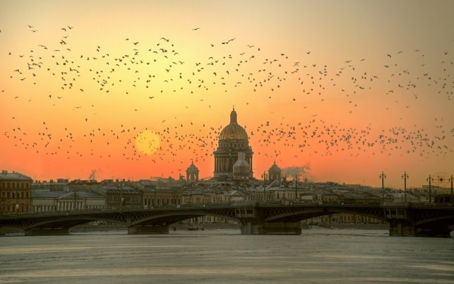 Saint Petersburg Russia Sunset wallpapers and stock photos