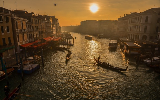 Gondola Rides Venice Sunset wallpapers and stock photos