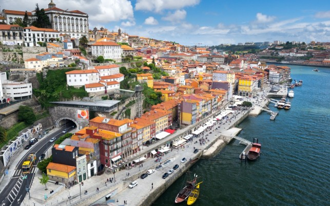 Douro River Porto Portugal wallpapers and stock photos
