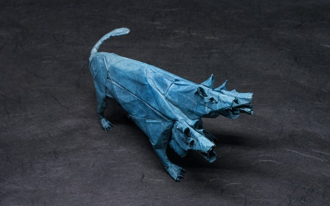 Origami Cerberus wallpapers and stock photos