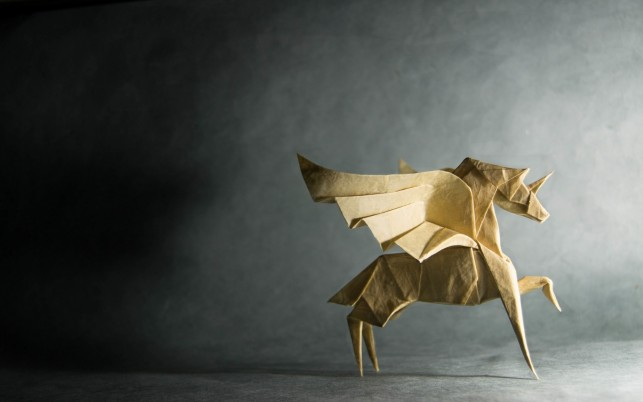 Origami Pegasus wallpapers and stock photos