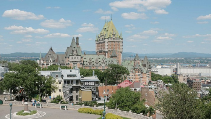 Chateau Frontenac Canada wallpapers and stock photos