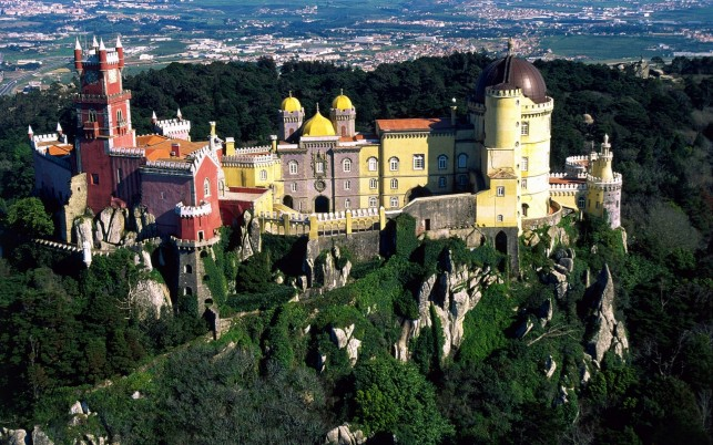Pena National Palace Portugal wallpapers and stock photos