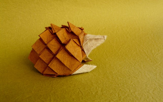Origami Hedgehog wallpapers and stock photos