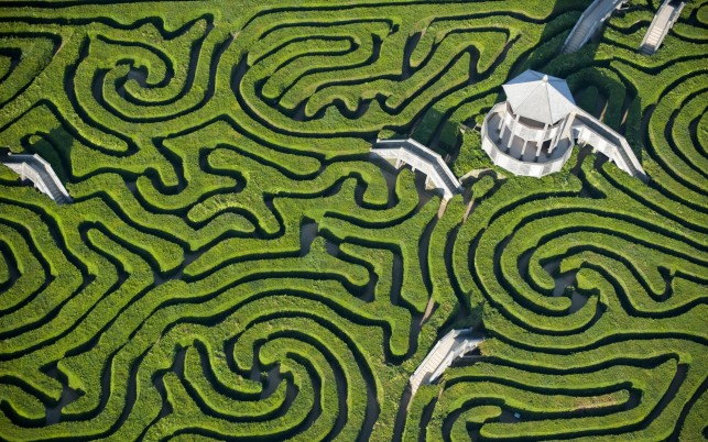 Long Leat Hedge Maze England wallpapers and stock photos