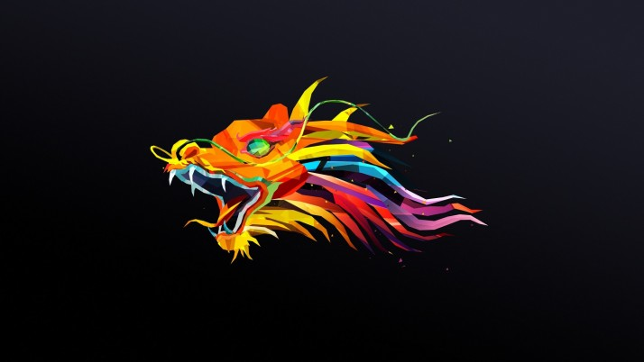 Colorful Dragon Head wallpapers and stock photos