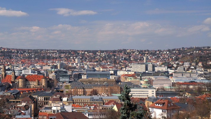 Stuttgart Aerial View wallpapers and stock photos