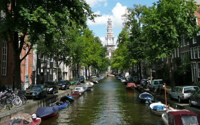 Canal Of Amsterdam Netherlands wallpapers and stock photos
