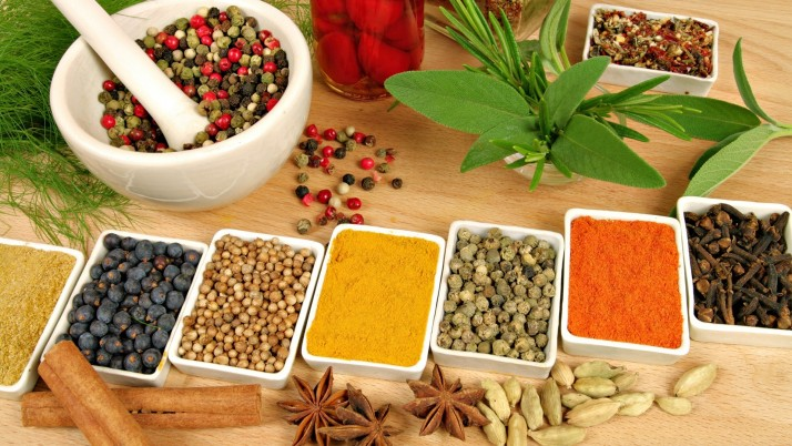 Herbs & Spices Mortar Pestle wallpapers and stock photos