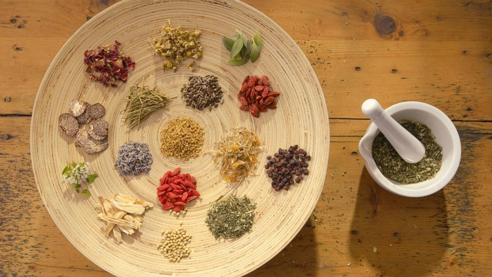 Herbs & Spices Plate Table wallpapers and stock photos