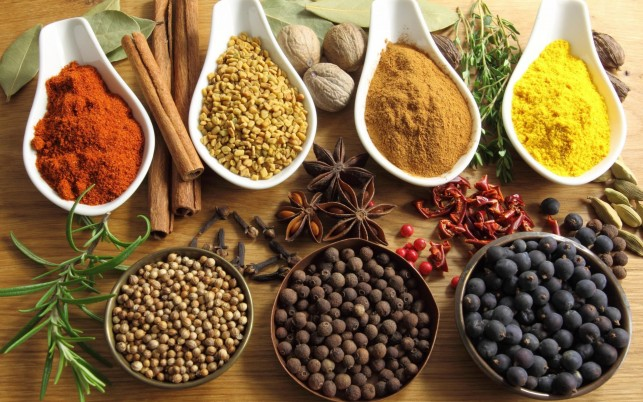 Herbs & Spices Bowls Dishes wallpapers and stock photos