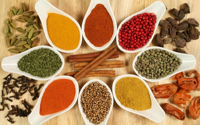 Herbs & Spices Bowls wallpapers and stock photos