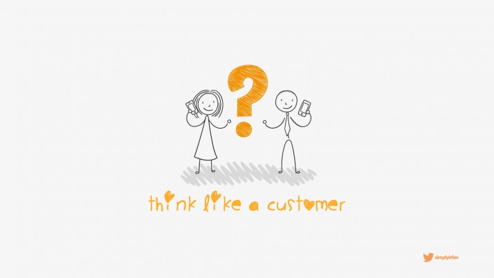 Think Like A Customer wallpapers and stock photos