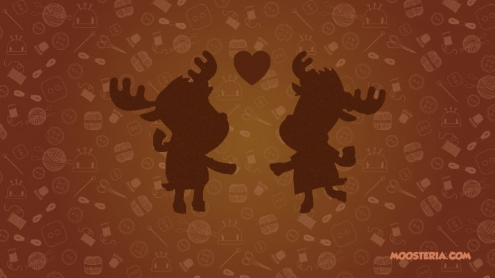 Moose Loving Couple wallpapers and stock photos