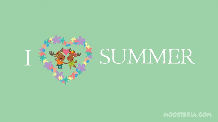 Moose Love Summer wallpapers and stock photos