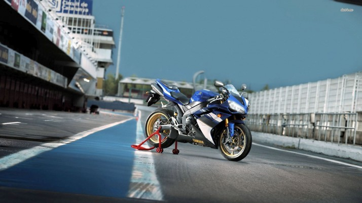 Yamaha R1, motorcycles wallpapers and stock photos
