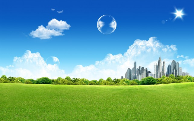 Green City wallpapers and stock photos