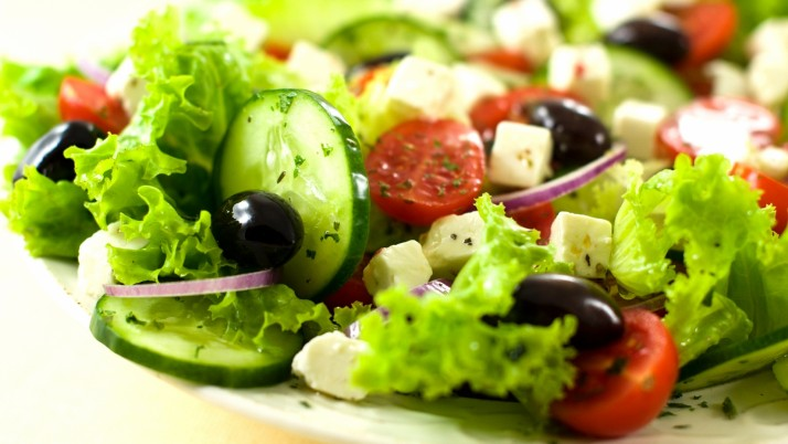 Salad Vegetables Olives Cucumb wallpapers and stock photos