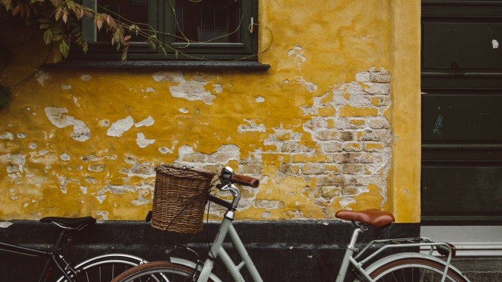 Bicycle Wall Window wallpapers and stock photos