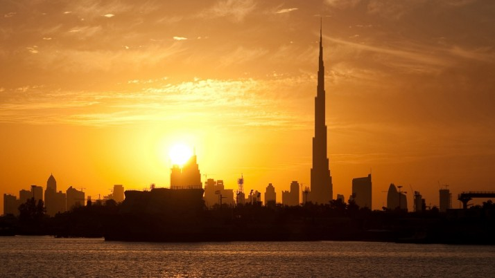 Dubai Buildings Silhouette wallpapers and stock photos