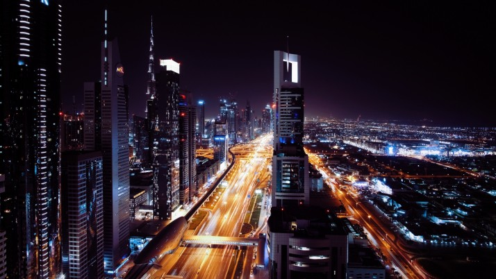 Dubai UAE Night City wallpapers and stock photos