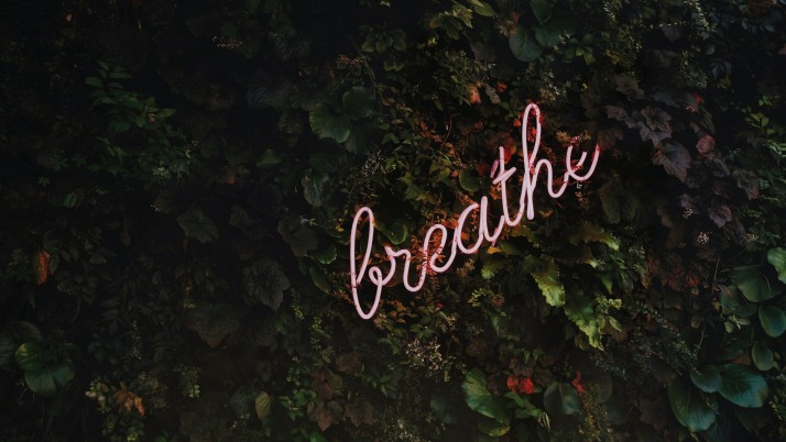 Breathe Motivation Letters wallpapers and stock photos