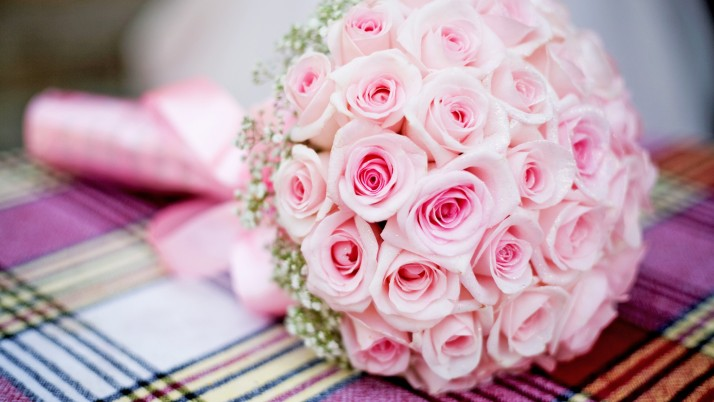 Pink Bouquet Roses Wedding wallpapers and stock photos