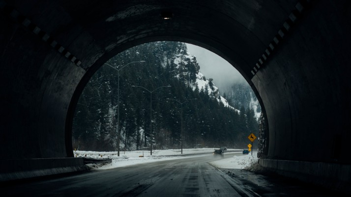 Next: Tunnel Road Snow Winter