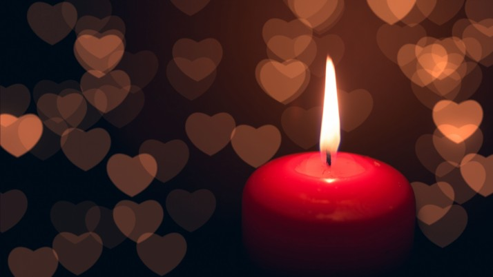 Candle Heart Dark wallpapers and stock photos