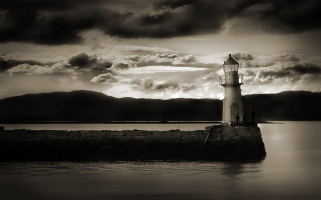 Dark Lighthouse wallpapers and stock photos