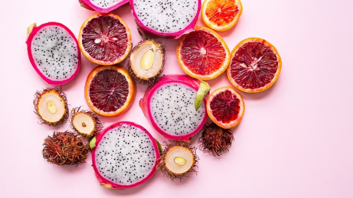 Pitaya Rambutan Citrus Exotic wallpapers and stock photos