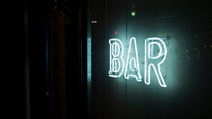 inscription_bar_wall_light wallpapers and stock photos