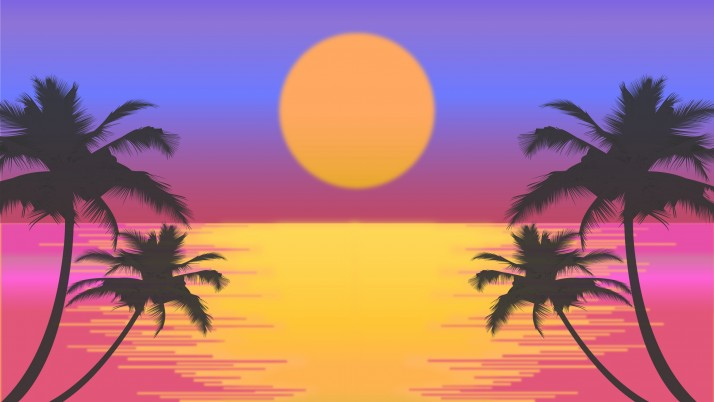 palms, vector, art wallpapers and stock photos