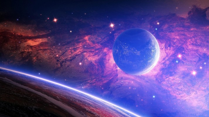 Space Planets, beautiful wallpapers and stock photos