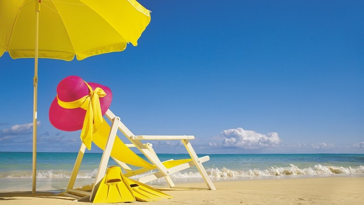 Summer Beach,  chair wallpapers and stock photos