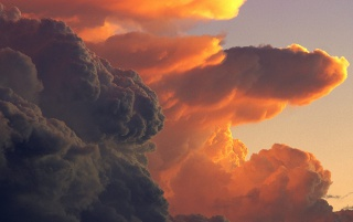 Cumulus at Sunset wallpapers and stock photos