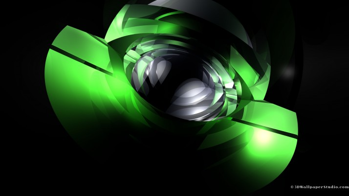 3D Green, linux wallpapers and stock photos