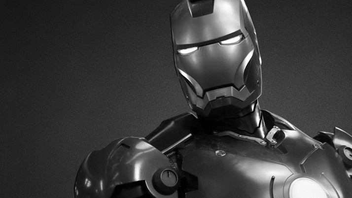 Iron Man Black And White, mac wallpapers and stock photos