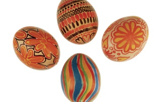 Red Easter Eggs wallpapers and stock photos