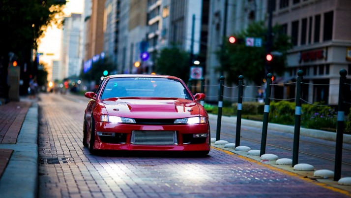 Nissan Silvia S14, justin wallpapers and stock photos