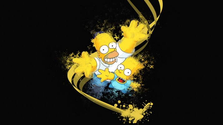 Simpsons 3D, black wallpapers and stock photos